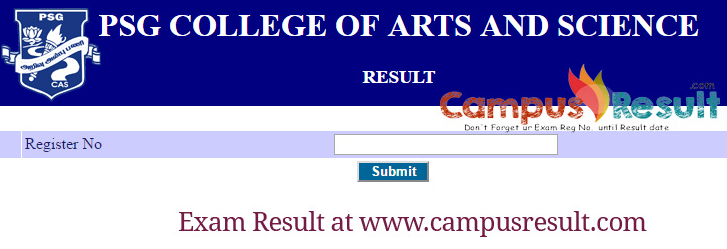 Psg College Of Arts Science Exam Results Ecampus Psgcas Ac In Campusresult Get All Educational Result