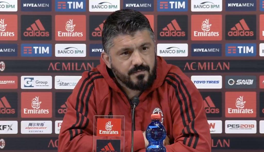La conferenza stampa di Gattuso alla vigilia di Milan Napoli