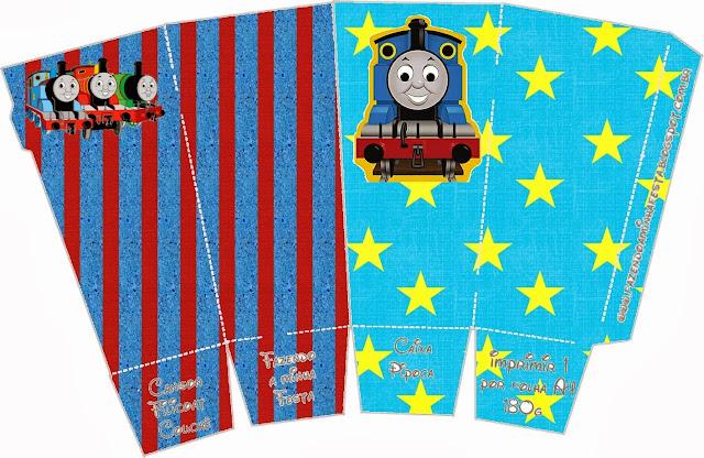 Thomas the Train Free Printable Pop Corn Box.
