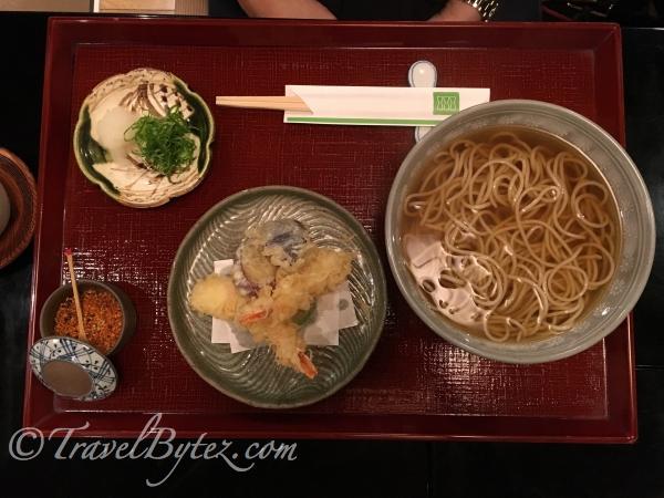 soba tempura set