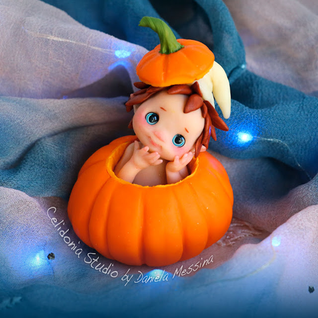 Halloween Pumpkin Fairy Polymer Clay Tutorial