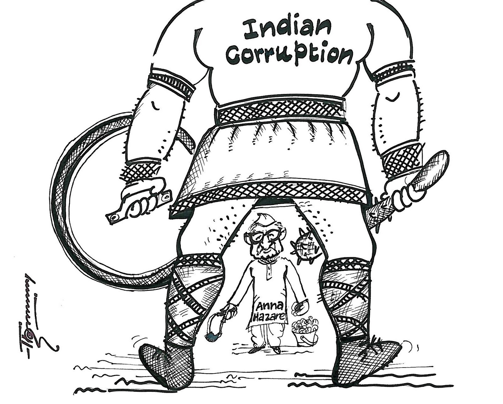 Drawn Opinions Fight Against Corruption
