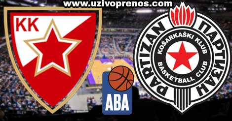 ABA Liga /Večiti derbi/ Crvena zvezda - Partizan UŽIVO PRENOSI ONLINE