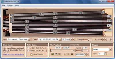 برنامج Free Oud Tutor كيفية اللعب على آلة العود الخاصة بك | تحميل مجانا