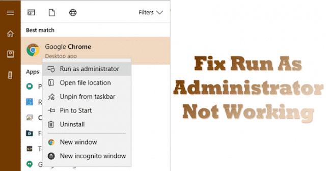 Cara Memperbaiki 'Run As Administrator Not Working' pada Windows 10