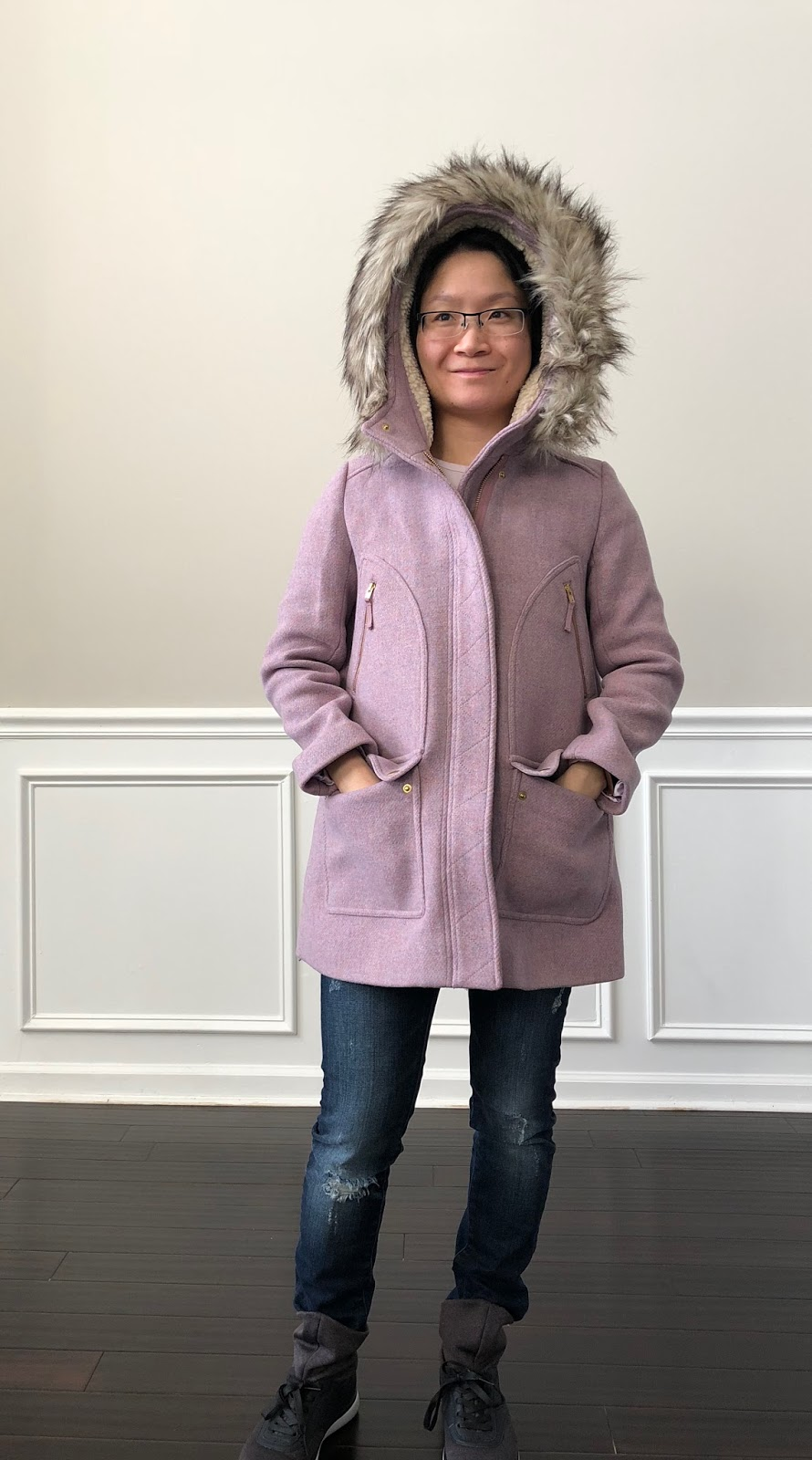 Petite Impact  Fit Review! J.Crew Girls Stadium-cloth Chateau Parka ... 151a11ad9696