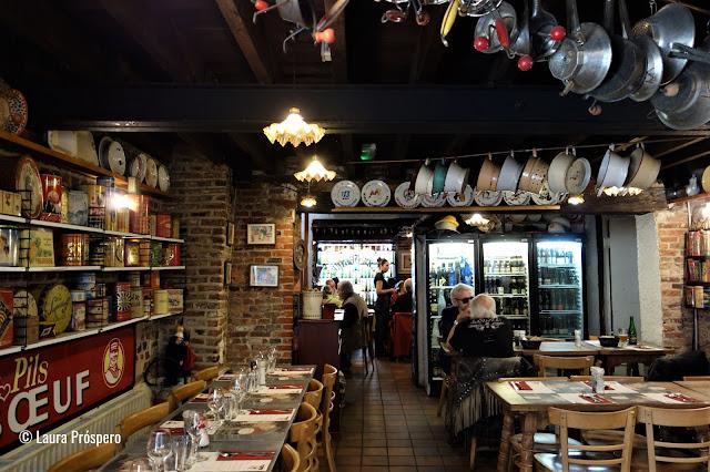 No Restobières todos os pratos levam cerveja na receita, uma instituição em Bruxelas.