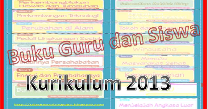 Buku Kurikulum 2013 Pegangan Guru Dan Siswa Sd Update Tahun 2015 Sd Negeri 1 Asemrudung