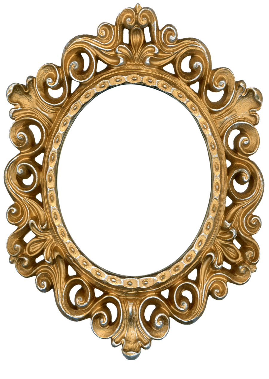 Molduras Formato Oval Metal Dourada Prata Floral
