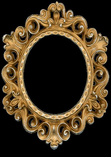 Molduras - Formato Oval Metal Dourada Prata Floral