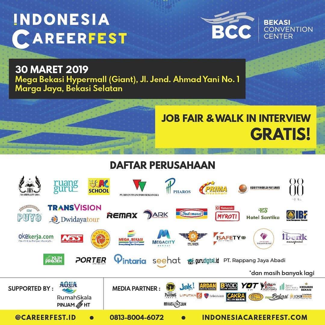 Job Fair Bekasi Lowongan Kerja Terbaru Indonesia 2020