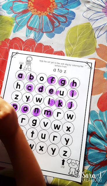 The perfect counting and alphabet sequencing activities with a community helpers theme.  How fun are these mazes?