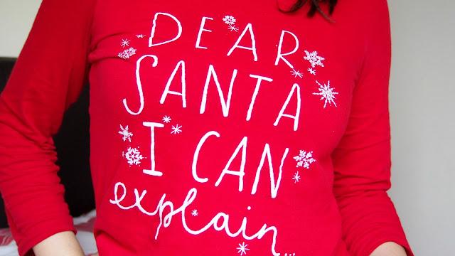 Dear Santa Pyjama Top