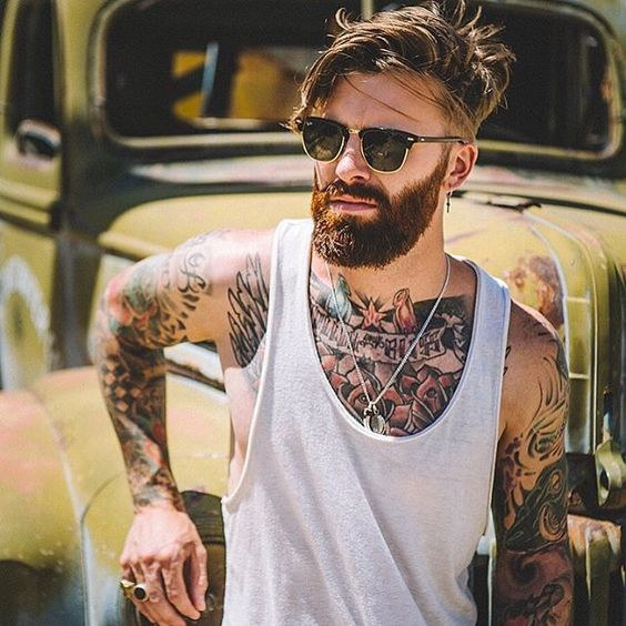 barba masculina estilos em alta