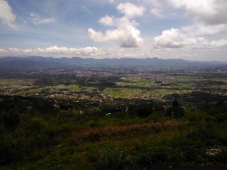 Lokasi di puncak Janjang Sajuta Lereng Singgalang