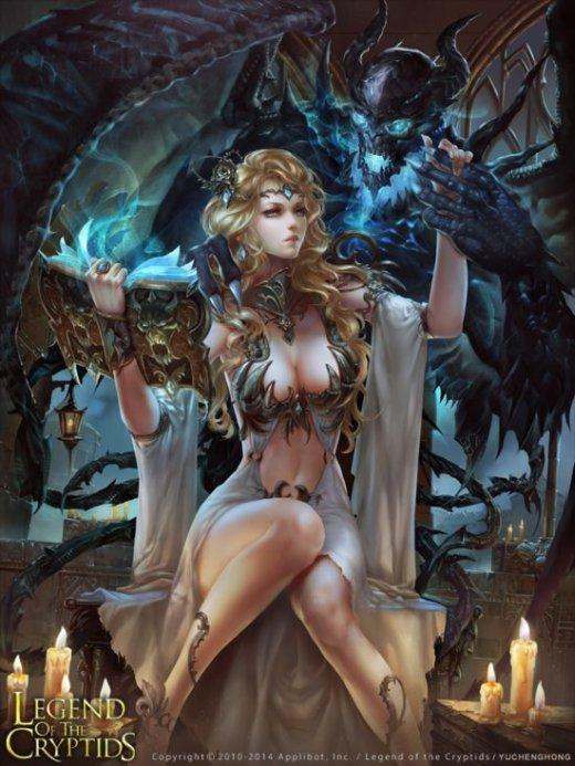 Yu Cheng Hong deviantart ilustrações fantasia mulheres games