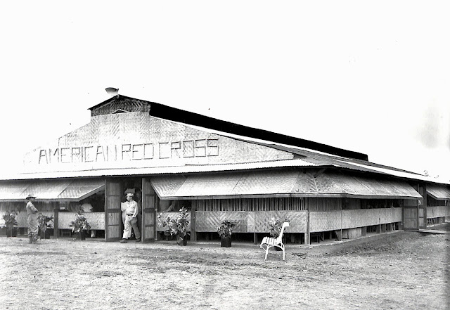 The new Hilltop American Red Cross Club for enlisted men at Base R Batangas, Luzon, P.I.  Taken 16 September 1945.