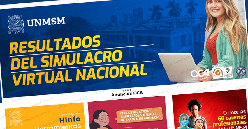 RESULTADOS SAN MARCOS: UNMSM Publicó Lista de Postulantes aprobados del Simulacro Virtual Nacional (Domingo 16 Agosto 2020)