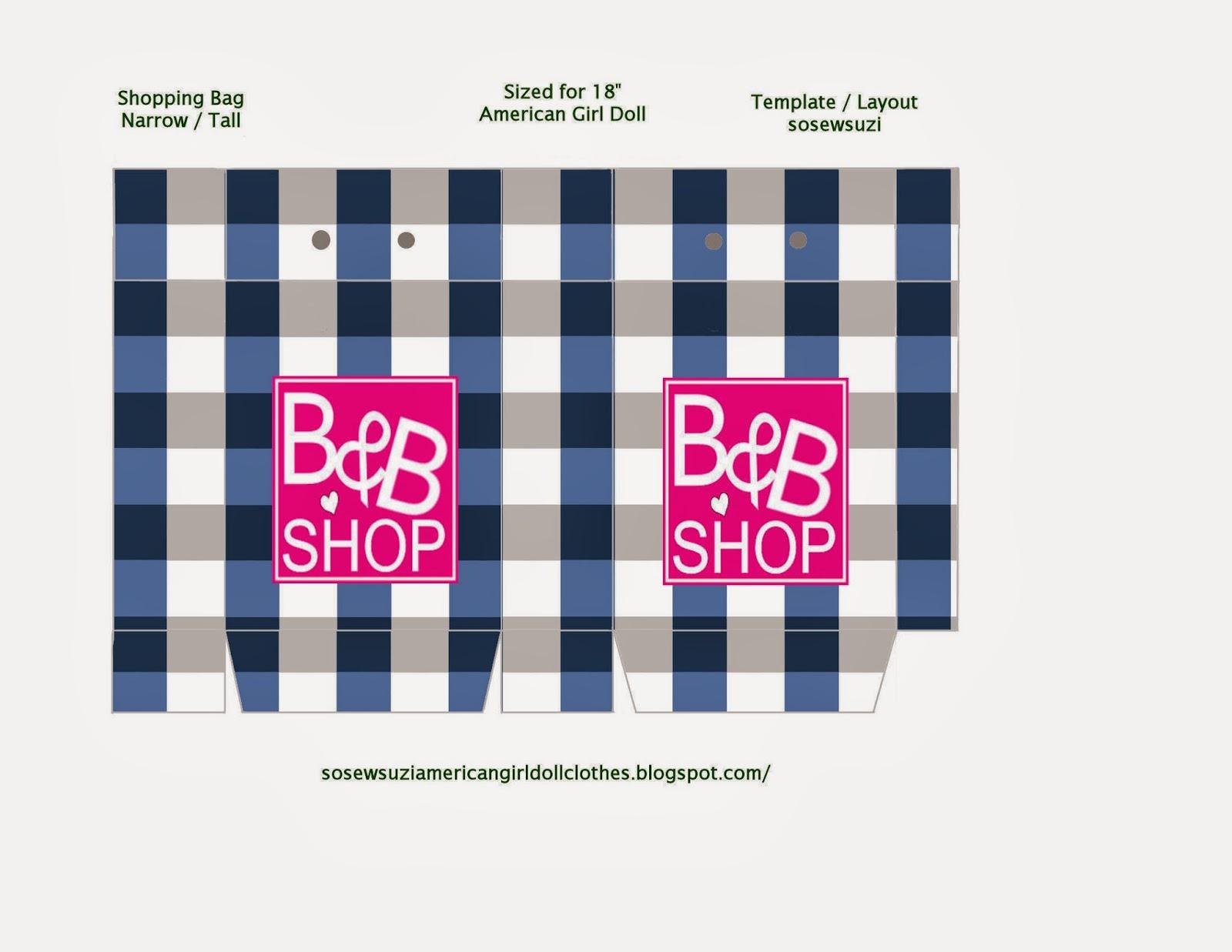 Snickerdoodle Street Mini Shopping Bags