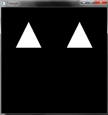 OpenGL code to make simple Triangles