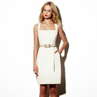 modelo de vestido tubinho branco