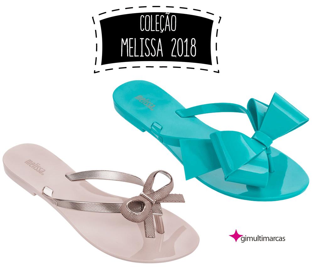 Coleção Melissa 2018- chinelos pra deixar os pés lindos, leves e soltinhos!