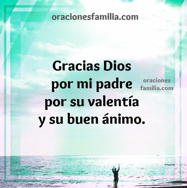 Oración corta por mi papá, padre, oraciones cristianas para pedir por la salud de mi papá, imagen por Mery Bracho