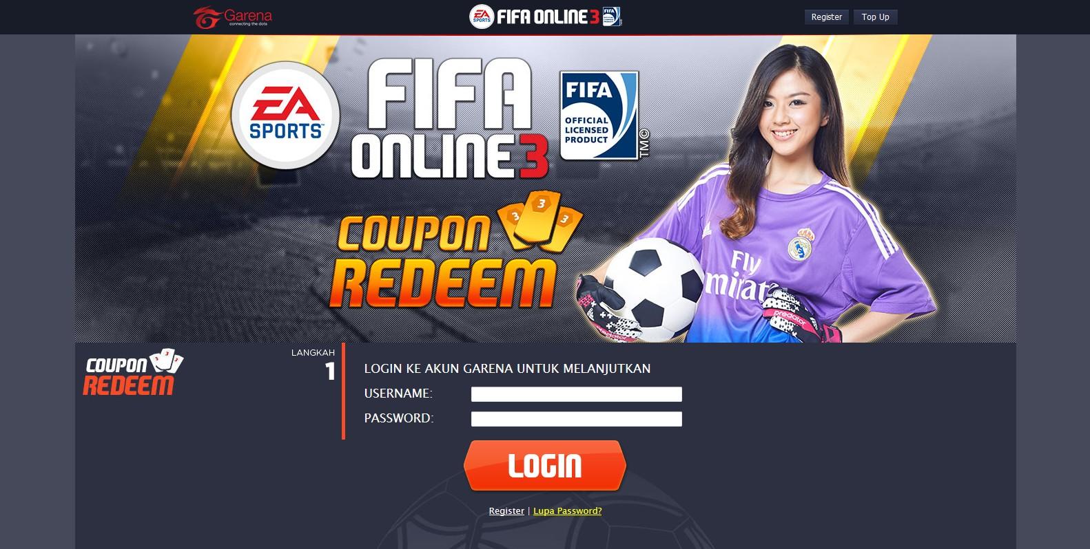 fifa online 3 coupon redeem code free