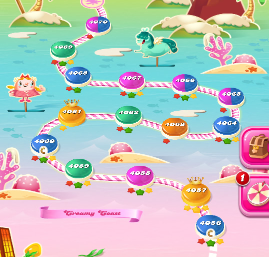 Candy Crush Saga level 4056-4070
