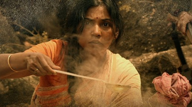 Usha Jadav as Veerappan's wife Muthulaksmi in Veerappan, directed by Ram Gopal Varma