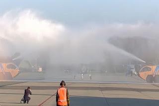 F-35 Pertama Belanda Ditembak Busa Pemadam Kebakaran