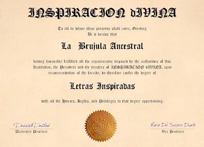 """Premio """"Inspiración Divina"""""""