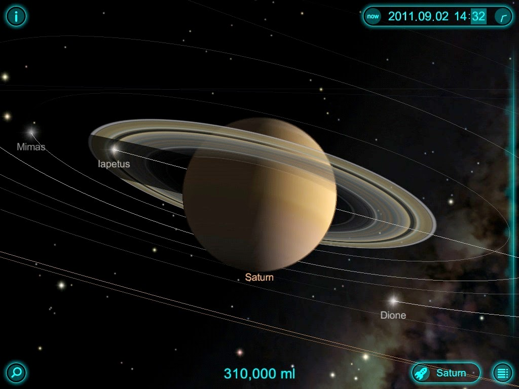 Image of Solar Walk Planetarium App Screen Capture