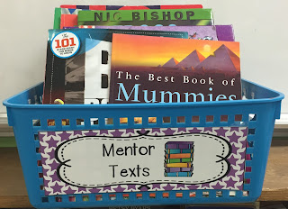 This post has some great mentor texts for introducing text features to your students.