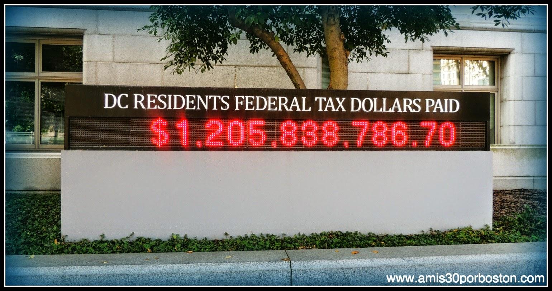 Tasas Federales Pagadas por los Residentes de Washington D.C.