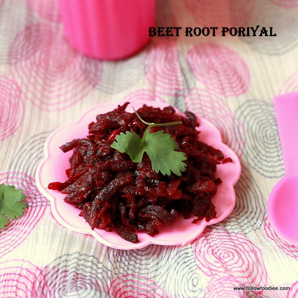Beetroot Poriyal recipe Or Beet Root Stir fry
