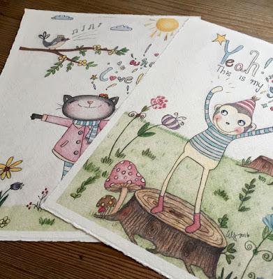 Children's Art  / Whimsical Art Print / Nursery Wall Art