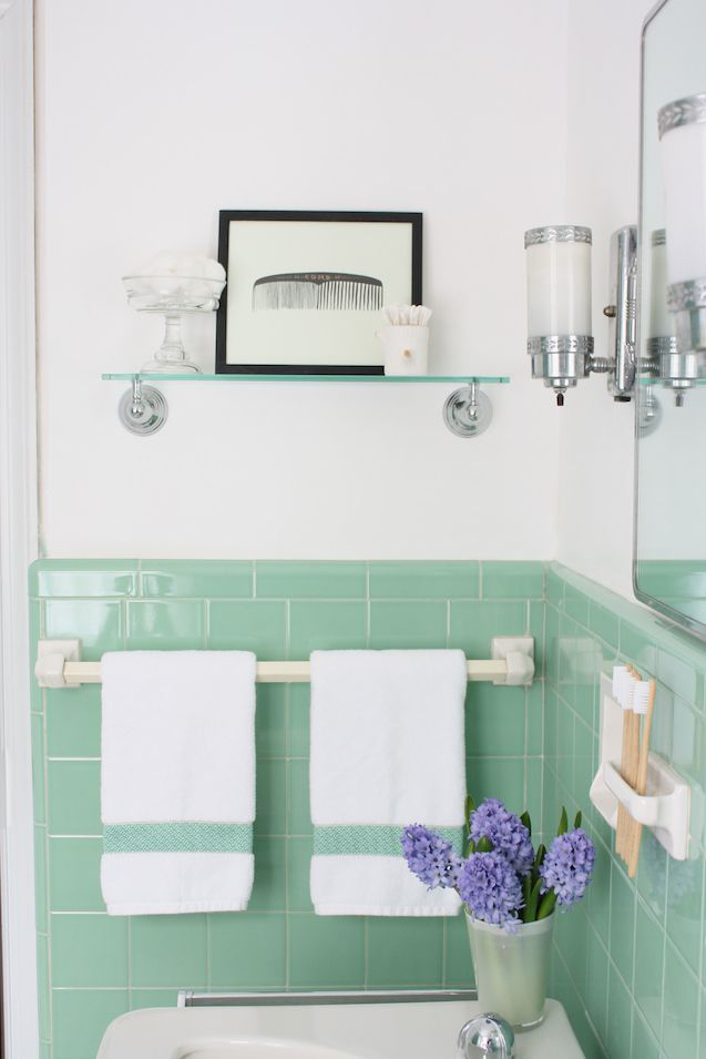 Meet Me In Philadelphia Our Vintage Jadeite Bathroom The