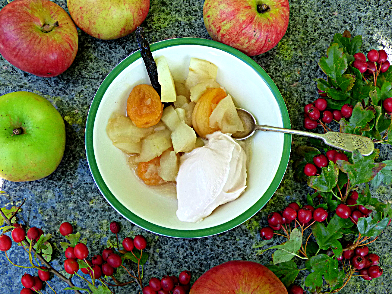 Apple Yogurt Compote Recipe — Dishmaps