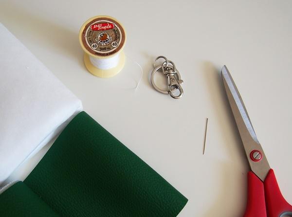 DIY : porte-clés cactus en simili-cuir
