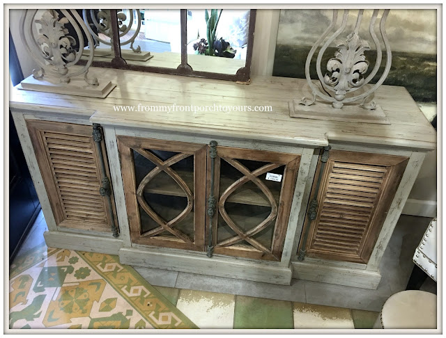 French Farmhouse living Room-Entertainment Console-White X White Furniture-From MY Front Porch To Yours