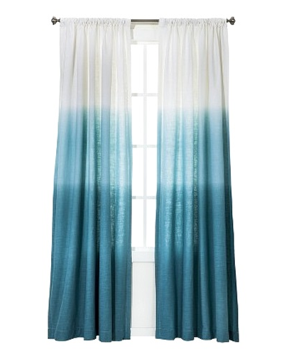 Ocean Inspired Dip Dye Curtains Diy Or Shop The Look