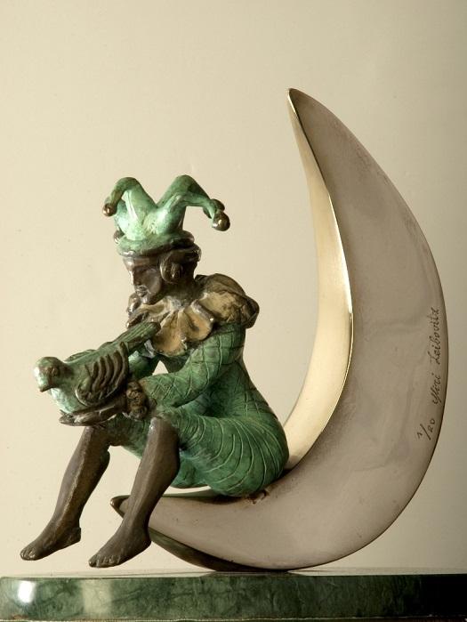 ירח מנייר.מירי ליבוביץ ואדוארד שרוסטר  . צילום אדוארד שרוסטר