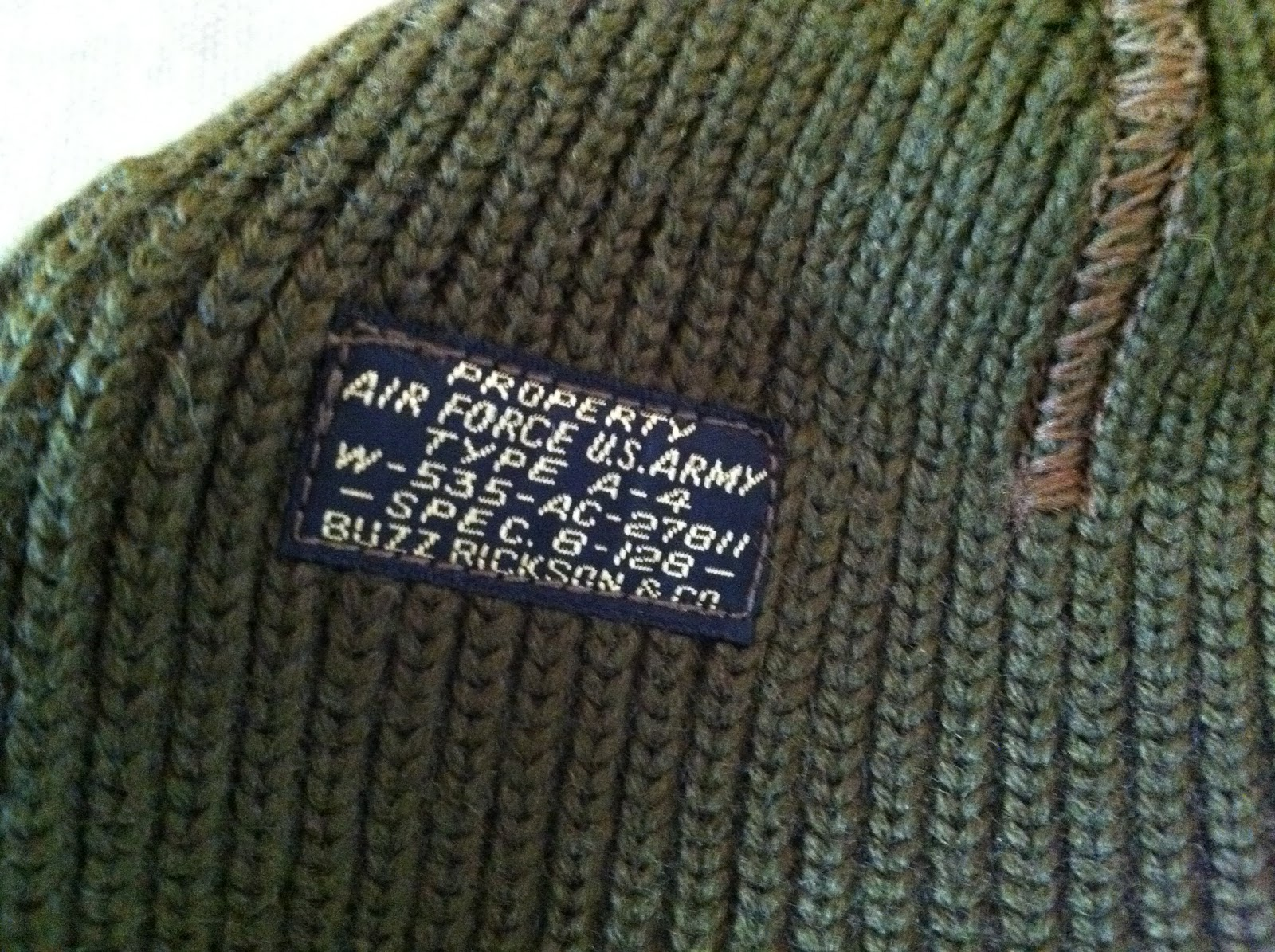 2250cdcba21 SKYRIDERS  USN Watch Cap and WWII US AAF type A-4 wool knit ...