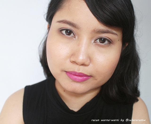 FOTD Wardah 28 Rosy Purple