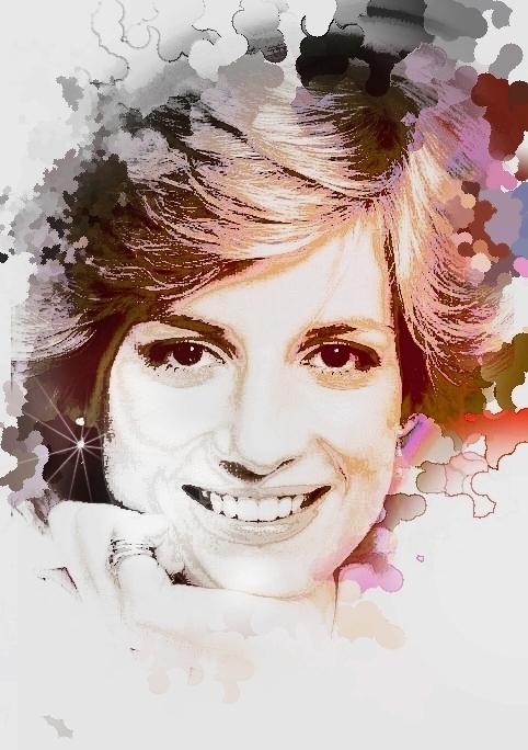 Pop Art Portrait Drawing Pop Art Portrait Sketch Diana 11
