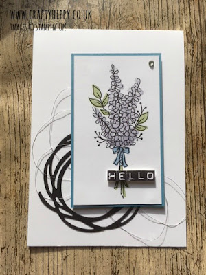 How to create a Lavender card using the Lots of Lavender stamp set from Stampin' Up!