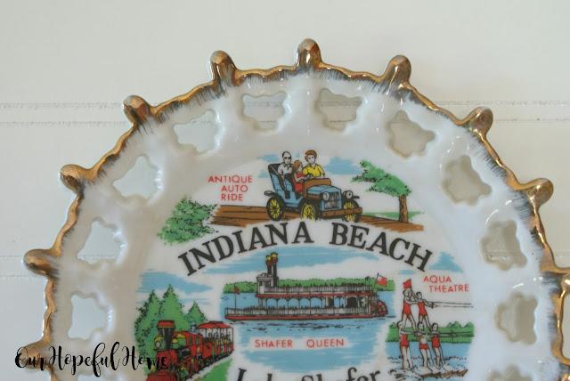 Indiana Beach antoque auto ride plate