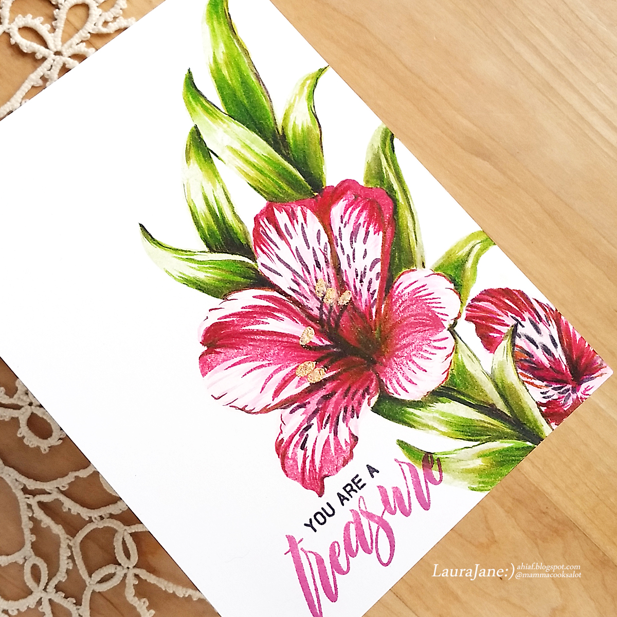 After Hours Ink Flowers Altenew Build A Flower Peruvian Lily