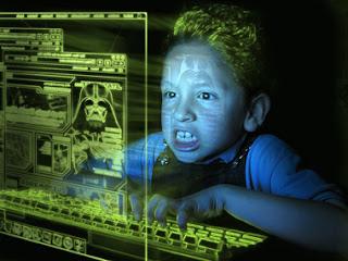 enfant - mondes virtuels -  videogames
